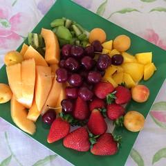 Fruit platter for lunch dessert