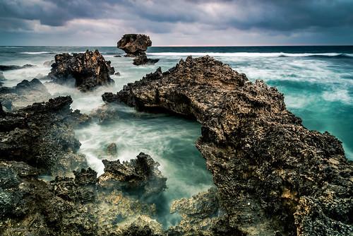 capeperon westernaustralia arch indianocean longexposure perth pointperon rocks seascape sunset waves peron australia au