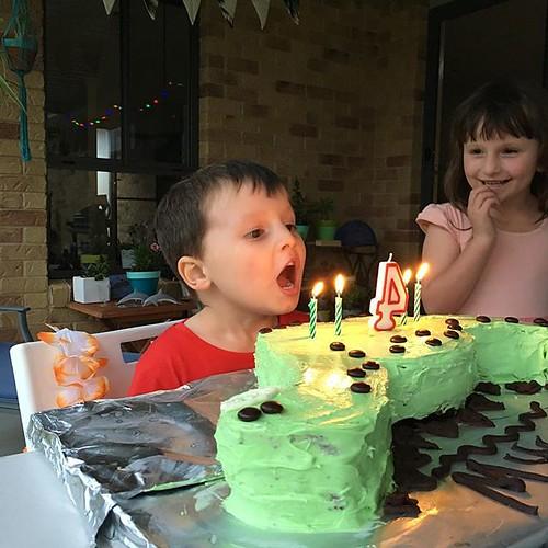 4 #birthday #dinosaur