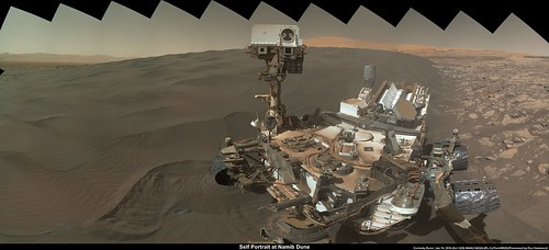 Mars Rover Self Portrait at Namib Dune
