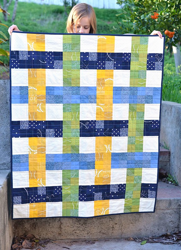 woven baby quilt