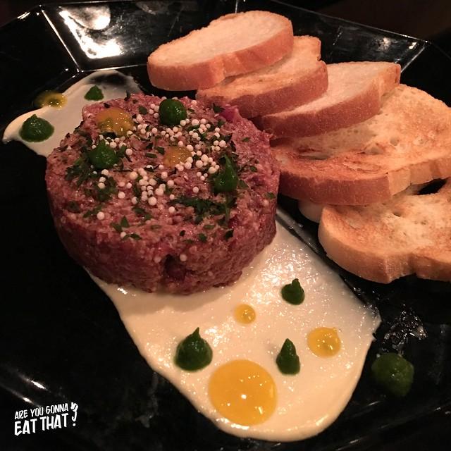 Kobe beef tartare, Ryoji Ramen & Izakaya, Toronto