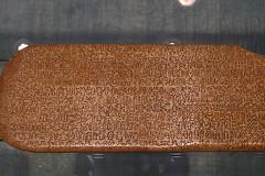 Santiago - Centro Cultural de Moneda Rapanui writing