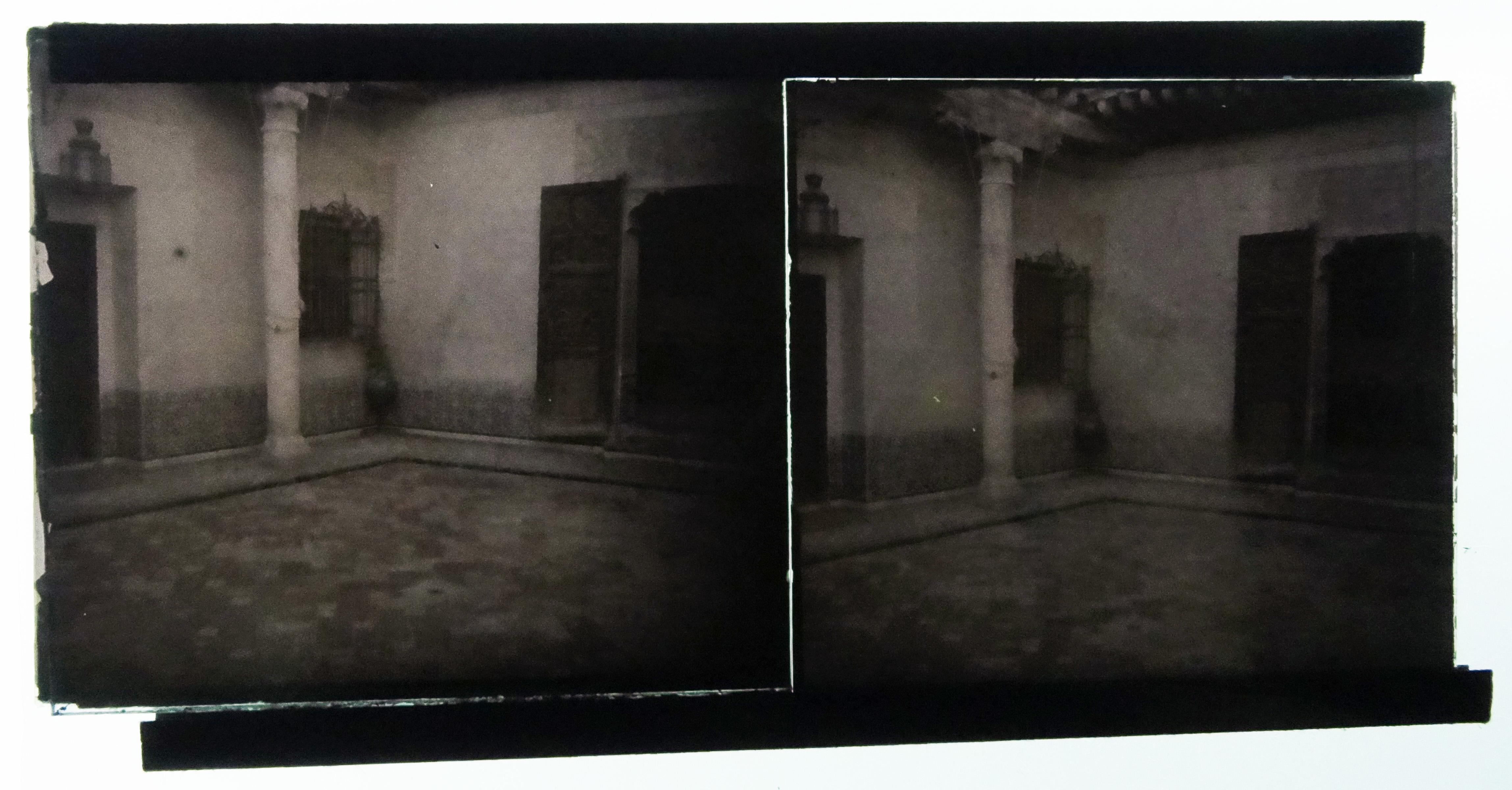 Autocromo de la Casa del Greco.Fotografía de Francisco Rodríguez Avial hacia 1910 © Herederos de Francisco Rodríguez Avial