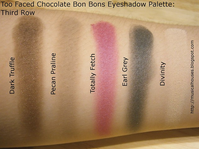 Too Faced Chocolate Bon Bons Eyeshadow Palette Swatches Row 3