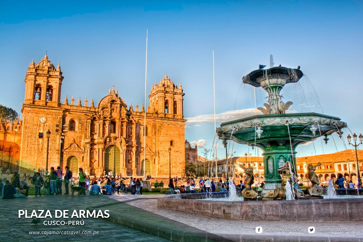 Plaza mayor de la ciudad de Cusco.