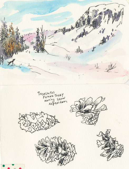 Sketchbook #94: Playing in the snow!