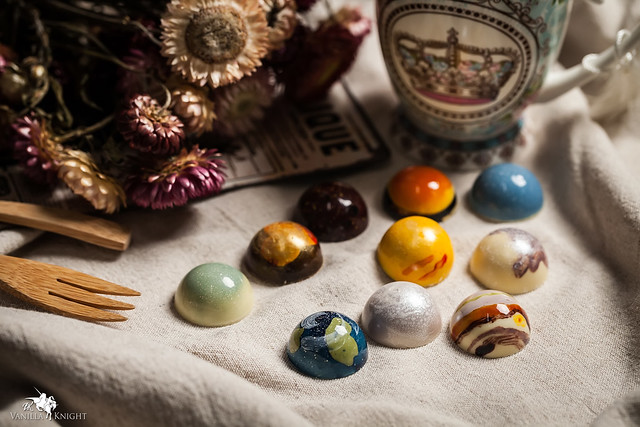 【星球巧克力】夢幻甜點!十種太陽系巧克力來啦~@南投巧克力推薦.香草騎士