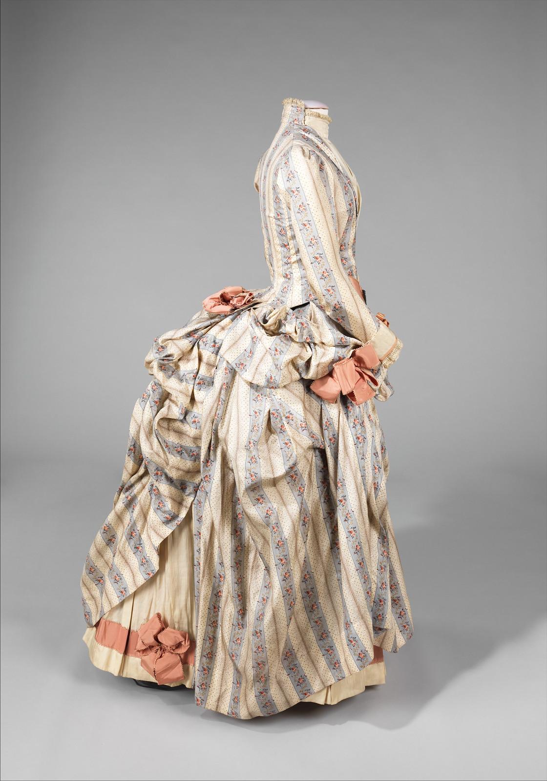 1885. American. Silk, rhinestones, metal. metmuseum