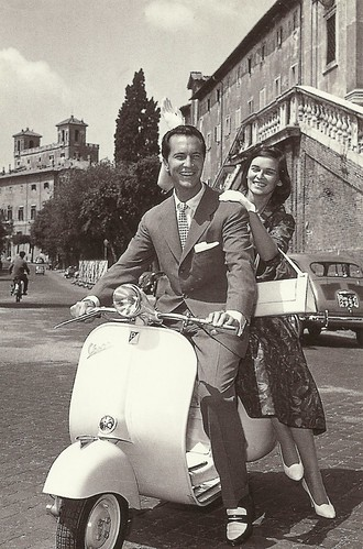 Vespa: Luis Dominguin and Lucia Bosè