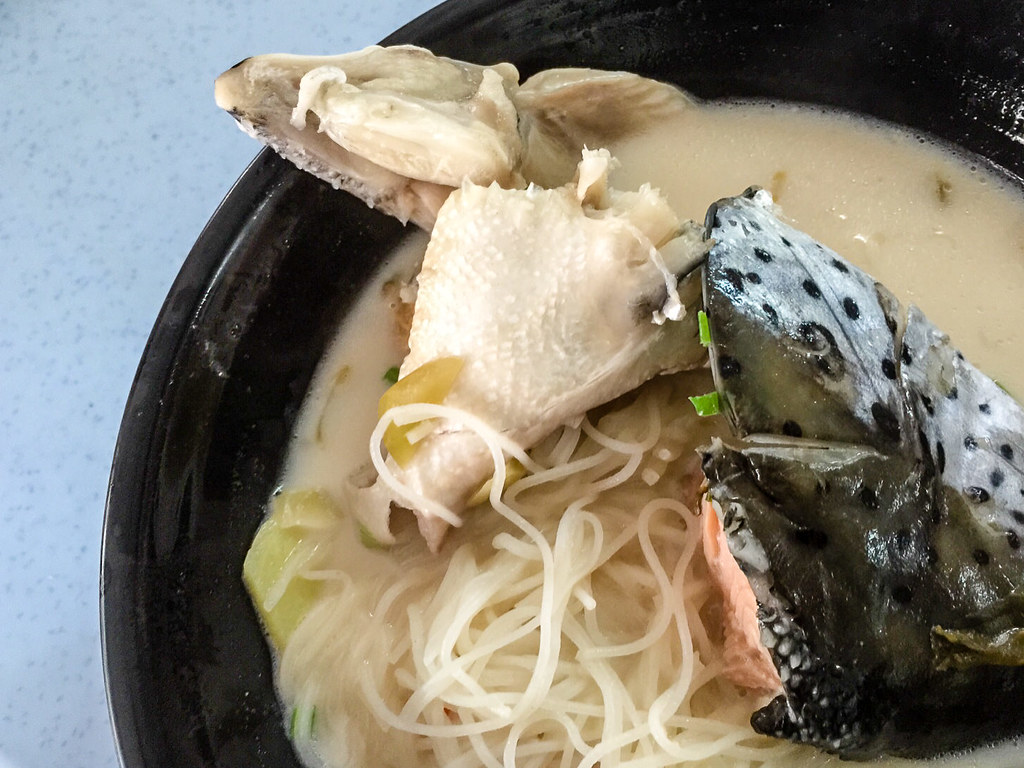 Norway Salmon Fish Head Noodles' Salmon Head with milky soup (non-fried)
