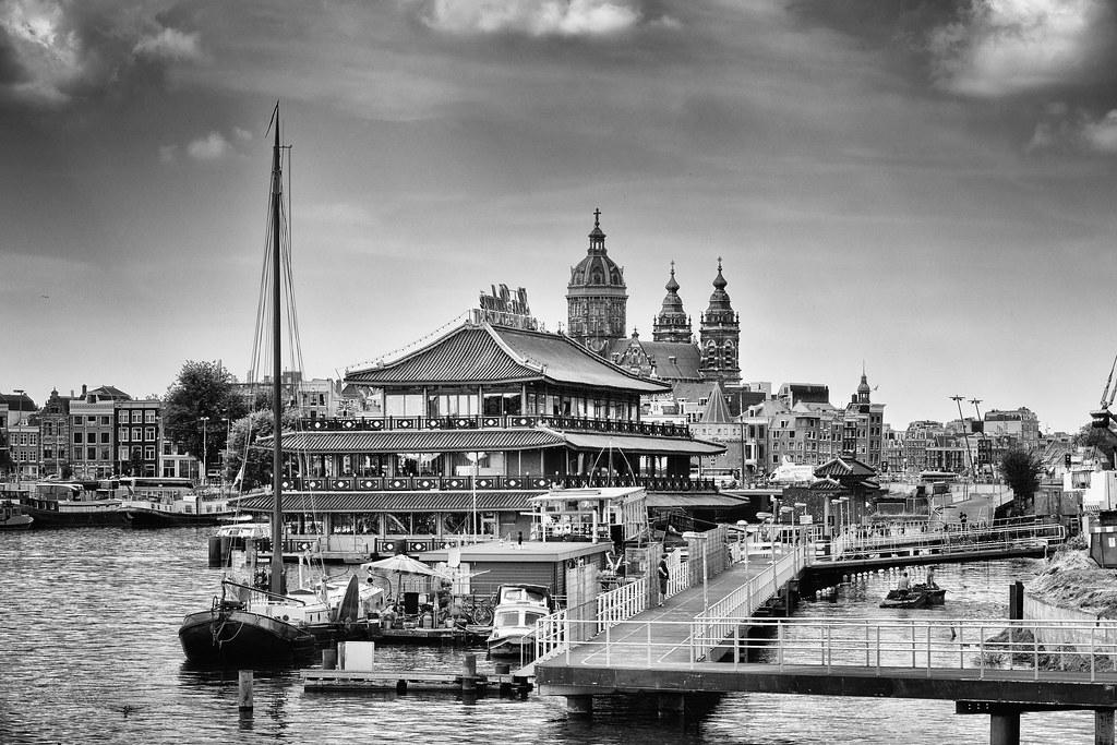 Amsterdam Port cityscape