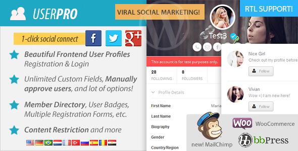 UserPro v2.6.6 - User Profiles with Social Login