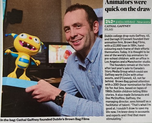 Animation and The Sunday Times Rich List
