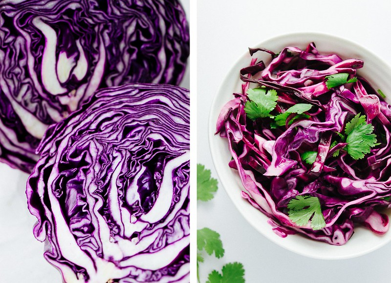 GRILLED BAJA TOFU TACOS + RED CABBAGE SLAW