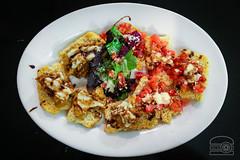 Bruschetta w/ Tomatoes, Roasted Eggplant, Balasami…
