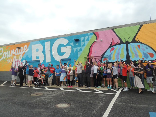 Unveiling of Courage to Live Big Mural in Alexandria, Virginia
