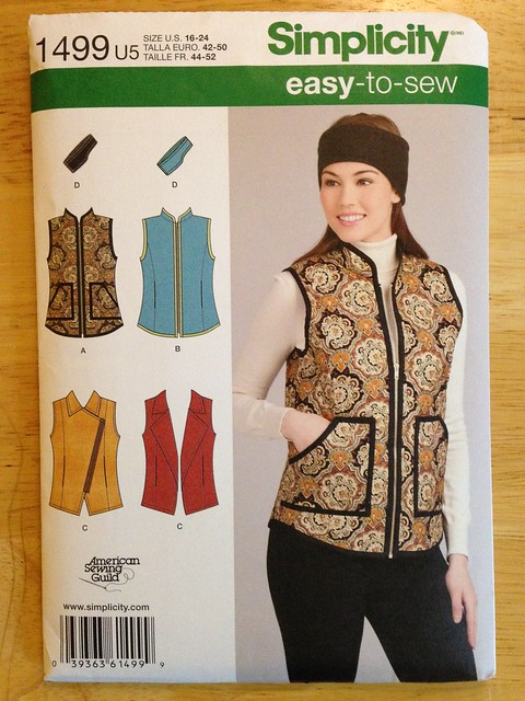 Simplicity 1499 (vest)