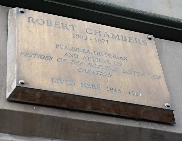 Photo of Robert Chambers brass plaque