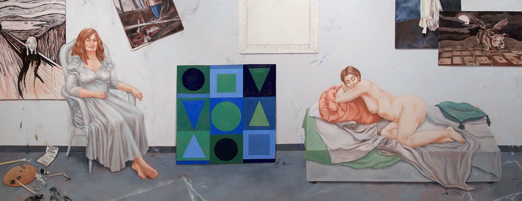 The Academy and Vasarely Oil on Linen 2015