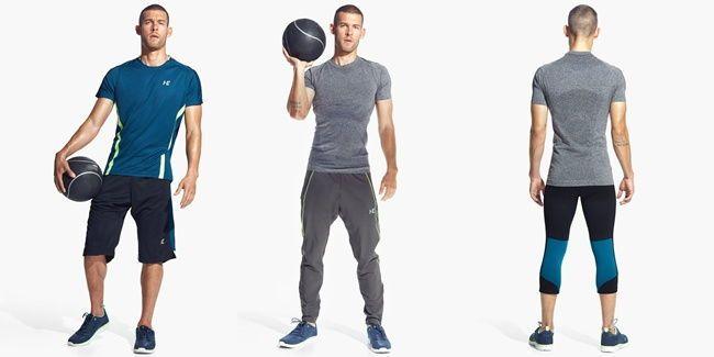 3 looks con Ropa deportiva para hombres en azul y gris