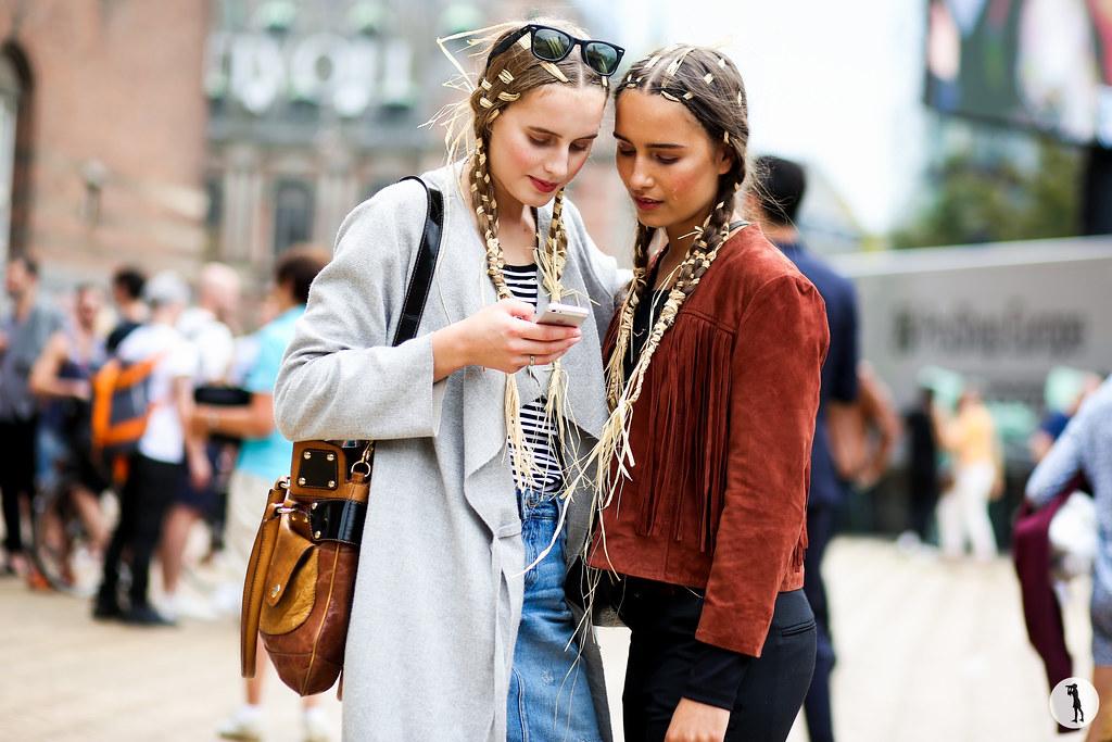 Models at Copenhagen Fashion Week