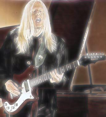 Johnny Winter playing an Epiphone Wilshire