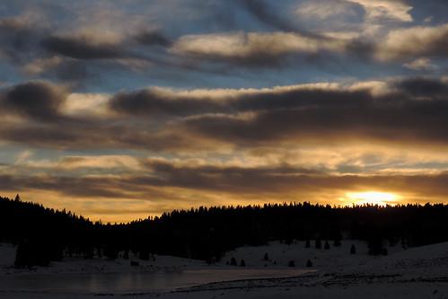 travel sunset sky usa cloud snow newmexico clouds creek landscape skies wintersunset outdoor dusk bluesky roadtrip blueskies redsky cloudysky purplesky winterscene redskies rioarriba