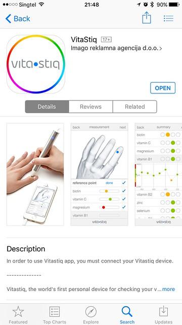 Vitastiq iOS App - App Store