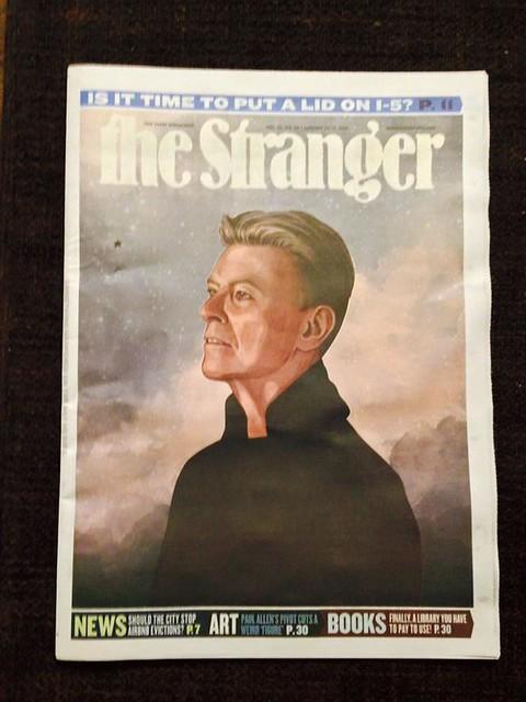 Cover of The Stranger, January 13 2016