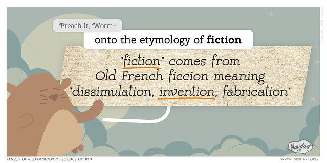 Panel 5/6: Etymology of science fiction
