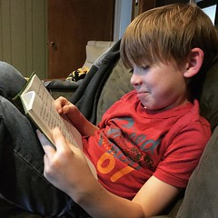 Pleasure reading for homework.