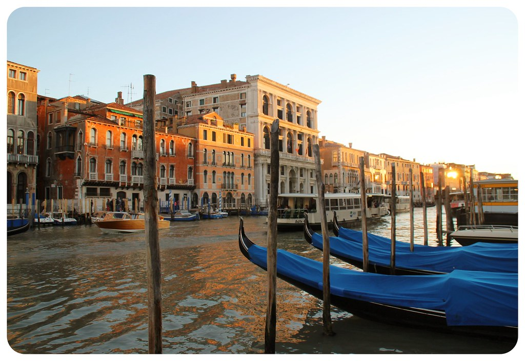 venice grande canale before sunset