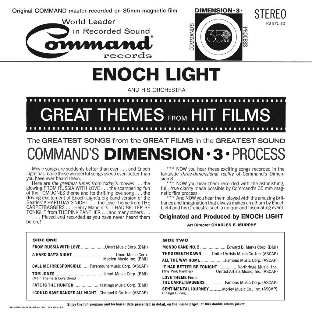 Enoch Light - Great Themes from Hit Films