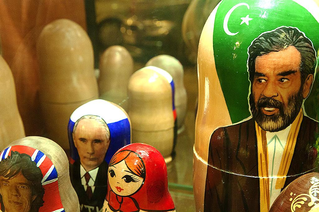Mick, Putin and Saddam--Budapest