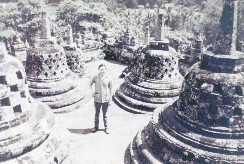 Borobudur, Yogyakarta - December 1973 stupas