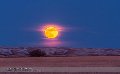 The Rising Winter Snow Moon