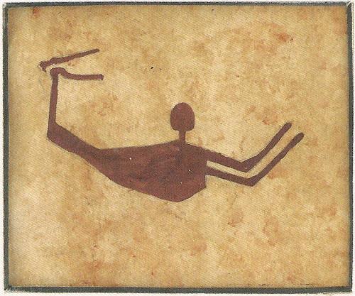 Schwimmer in der Wüste