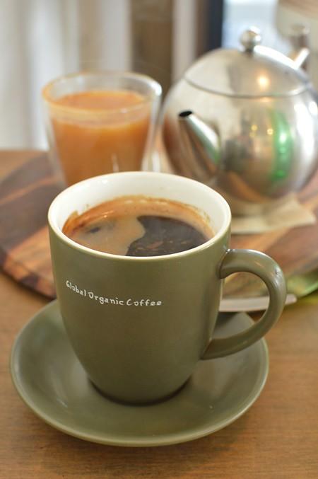 Golden chai, long black