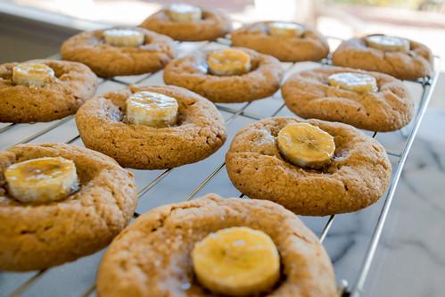 glistening caramelized bananas