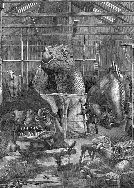 1 Dinosaurs in Benjamin Waterhouse Hawkins' studio, Crystal Palace, 1853