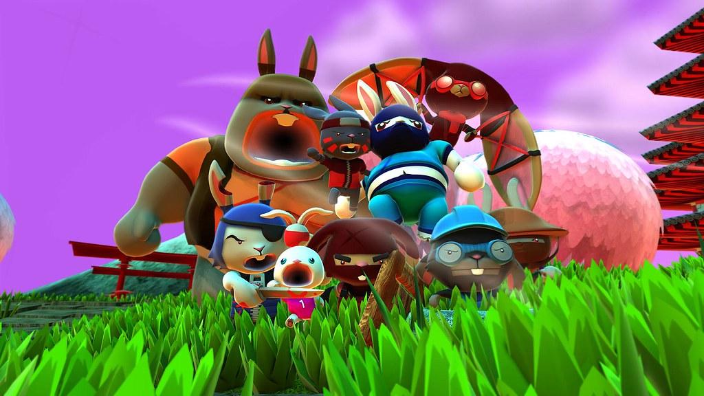 Blast 'Em Bunnies on PS4, PS Vita