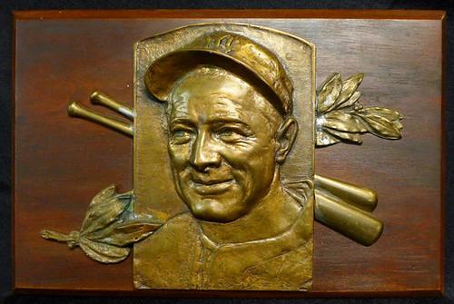 Lou Gehrig Baseball Hall of Fame plaque