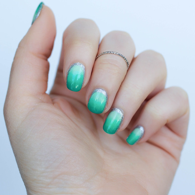 St. Patrick's Day Pastel Green Ombre Manicure