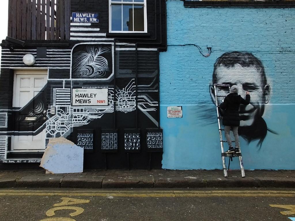 Pang street art in Camden