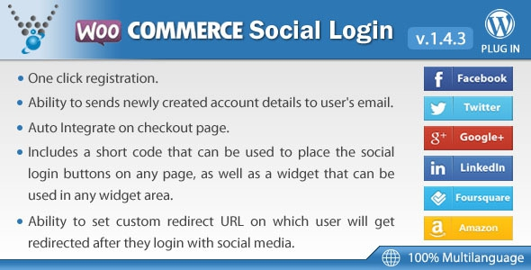 WooCommerce Social Login v1.5.3 – WordPress plugin