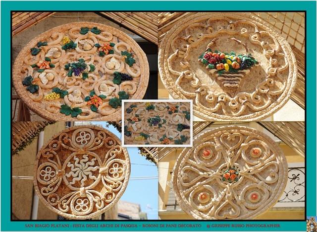 FESTA DEGLI ARCHI DI PASQUA DI SAN BIAGIO PLATANI (AGRIGENTO) - Trionfo degli archi : ROSONI DI PANE DECORATO