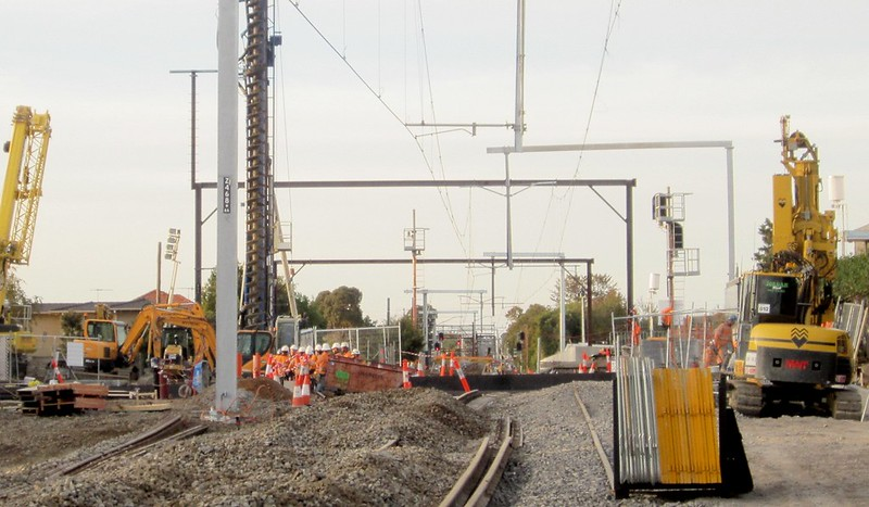 Mckinnon station demolition, during level crossing removal works