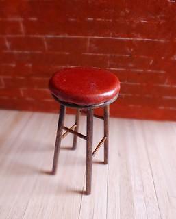 Leather stool for Momoko