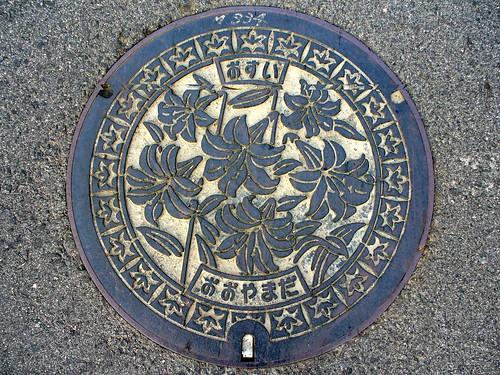 Oyamada Mie, manhole cover (三重県大山田村のマンホール)